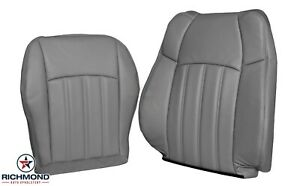 2006 2007 Chrysler 300 C 300c driver Side Complete Leather Seat Covers Gray