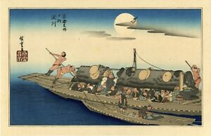 Old Hiroshige Japanese Ukiyo E Woodblock Reprint The Yodo River