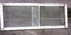 Vintage Antique Wood Frame Sliding Window Fly Screen Hand Made Shabby Chic Paint
