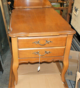 Beautiful Pair Of Vintage Bassett Furniture Wooden Night Stands
