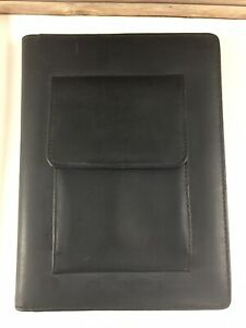 Day timer Leather Planner Journal Organizer 177 Pg Black Meeting Notes 9 X 6 5