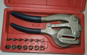Rw Roper Whitney No 5 Jr Hand Sheet Metal Punch Set With Case 15 Pieces Usa