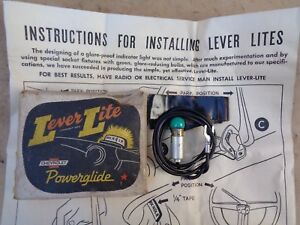 Nos 1950 1951 1952 Chevy Powerglide Shift Indicator Light Accessory Lever Lite