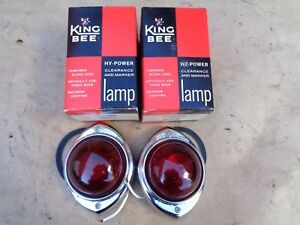 Nos King Bee Marker Lights Tail Lamps Turn Signals Ford Chevy Dodge Gmc Mack Coe