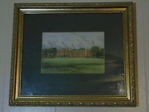 Temple Newsam Yorkshire 19th Century Hand Colored Lithograph F O Morris Framed