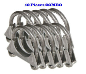 10 Pieces 1 3 4 I D Universal Heavy Duty Exhaust Hanger 1 75 U Bolt Clamp
