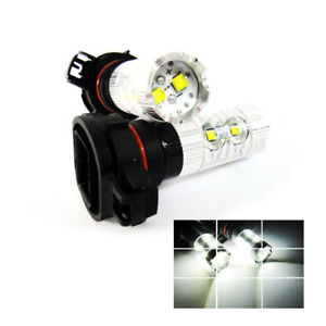 2x For Cadillac Cree Xb d Led H16 5202 Projector Drl Daytime Running Light 50w