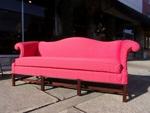 Fantastic Chinese Chippendale Sofa Crafted By Hickory 20thc