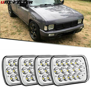 Pair 7x6 led Sealed Beam Replacement H6054 H6014 For Nissan Pickup Hardbody D21