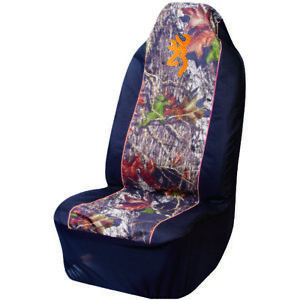 Browning Camo Seat Cover Universal Fit Mossy Oak Break Up Single