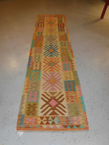 Handmade Kilim Rug Great Quality 2 8 X9 8 Runner Wool Carpet