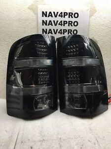 2007 2008 2009 2010 11 12 13 Gmc Sierra Fleetside Led Tail Light Lamp Pair t495