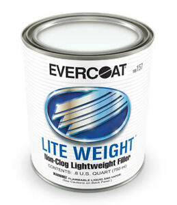Evercoat 157 Lite Weight Non Clog Body Filler Quart