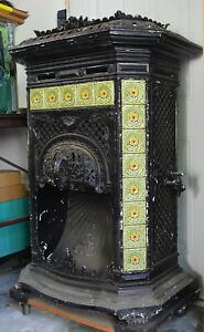 Antique Gas Parlor Heater