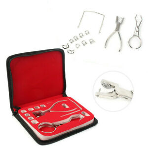 12 Pcs set Dental Instruments Rubber Dam Starter Kit With Frame Punch Clamps