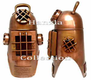 20 Copper Antique Finish Diving Hood Helmet Marine Brass Scuba Divers Us Navy