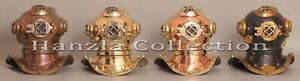 Lot Of 4 Vintage Diving Divers Helmet Miniature Reproduction 8 Home Decor Gift