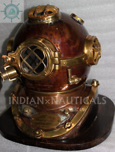 Morse Us Navy Diving Helmet Mark V Mod 1 Solid Copper Brass Antique Repoductio