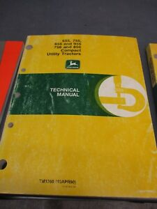 John Deere 655 755 756 855 856 Compact Utility Tractors Technical Manual Tm1360