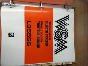 Kubota Tractor Model L355ss Workship Manual