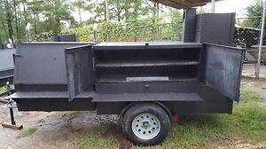 Propane Assist Bbq Smoker 36 Grill Trailer Food Truck Mobile Catering Business