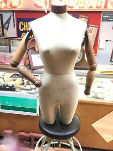 Vintage Waist Mannequins With Wood Hands