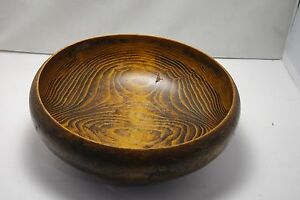 Vintage Old Signed Japan Wood Bowl