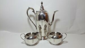 Gorham Coffee Teapot 391 Sterling Silver 9 5 Tall Sugar And Creamer