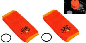 2x Orange Jdm Fire Proof Mugen Tank Reservoir Cover Socks For Civic Accord Jdm