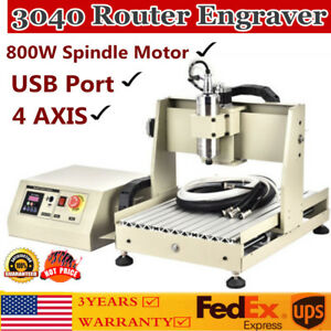 4 Axis 3040 Cnc Router Engraver 3d Cutter Engraving Milling Machine Ballscrews
