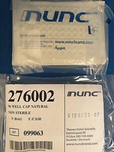 Qty 45 Thermo Scientific Nunc 96 Well Caps Natural 276002