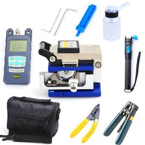 Fiber Optic Ftth Tool Kit Fc 6s Cutter Fiber Cleaver Optical Power Meter W bag