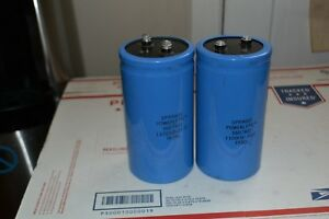 Lot Of 2 Sprague Powerlythic 36d7822 110000 25dc Capacitor