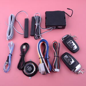 12 V Car Pke Passive Keyless Entry Push Button Remote Engine Start Stop System