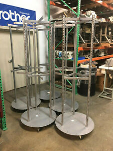 6 Two Tier 3 Way Rolling Clothes Garment Rack