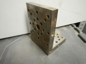 Older Machinist Small Angle Plate W 1 4 20 Holes Jig Fixture Setup Milling Ct64