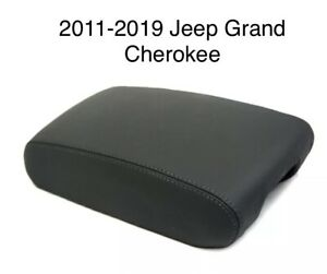 2011 2019 Jeep Grand Cherokee Armrest Console Cover Lid Synthetic Leather Black