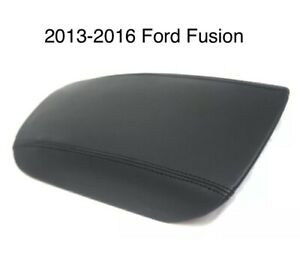 2013 2016 Ford Fusion Center Console Armrest Leather Vinyl Synthetic Cover Black