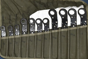 Military Stride Usa Tube Fitting 12 pt 11 pc Sae Wrench Set Pd5120 00 474 7227
