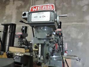 Webb Heavy Duty 3 H p Variable Speed Milling Machine Head New