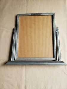 Vintage Art Deco Silver Wood Toggle Picture Frame 8 X 10 Perfect For Table
