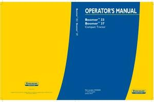 New Holland Boomer 33 And Boomer 37 Compact Tractor Operator s Manual