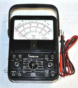 Simpson Model 260 Series 6 Multimeter Probes Vintage Industrial Surplus Good