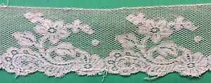 0059 Antique Point Ground Bobbin Lace Very Fine 2 1 2 X 18 Great For Dolls