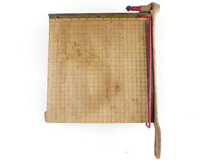 Vintage Wood Paper Cutter 12 Ingento Guillotine Paper Trimmer