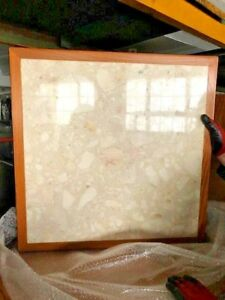 Wood And Marble 26 X 26 Commercial Restaurant Table Top