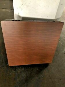 Oak Laminate Expanding 36 X 36 Commercial Restaurant Table Top Square To Round
