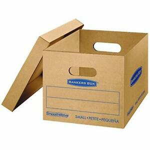 Smooth Move Classic Moving Kit Boxes Tape free Assembly Easy Carry Handles 12 Pk