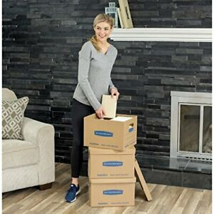 Smooth Move Classic Moving Kit Boxes Tape free Assembly Easy Carry Handles 30 Pk