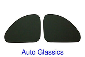 1937 1938 1939 1940 Ford Coupe Quarter Glass Pair New Auto Restoration Windows